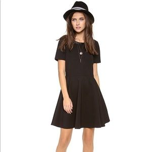 Madewell fit and flare ponte dress